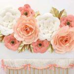 flores de papel para decoração de festa - começar curso