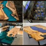 Curso online ensina como fazer lindas mesas resinadas