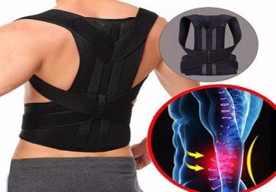 Cinta corrige postura e alivia dor na coluna ou lombar