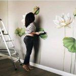 Design de parede decoração em 3D passo a passo