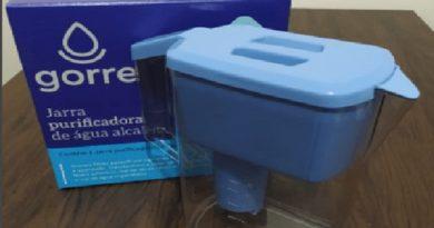 Jarra para alcalinizar água purificador portátil 1,5 litros